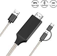 Kdely Type-C Micro USB a Cable HDMI, convertidor MHL a HDMI, para Productos Android, Adaptador de Pantalla de resolución de teléfono/proyector/resolución de 1080p para teléfono con Pantalla Espejo