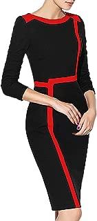 HiQueen Elegant Striped Sheath Bodycon Dress