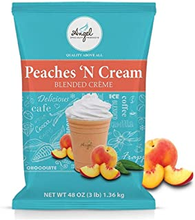 Angel Specialty Products, Blended Smoothie, Frappe Powder Mix, Peaches 'N Cream [3 LB] [34 Servings]
