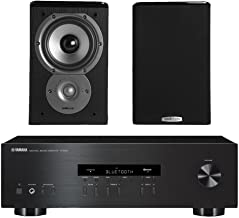 Yamaha R-S202 Stereo Receiver Bundle with Polk TSi100 2-Way Bookshelf Speakers with 5-1/4