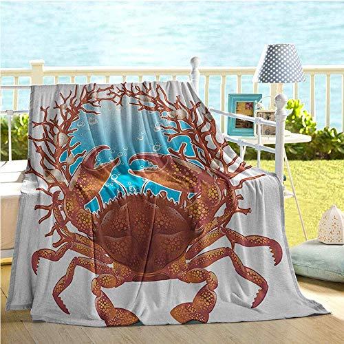 Fleece deken schelpen decoreren krab spiraal schelpen en rode koraal frame Aquarium kakellak tak bellen klauwen natuur krijgen goed geschenken fleece deken 102X127Cm gooien deken patroon