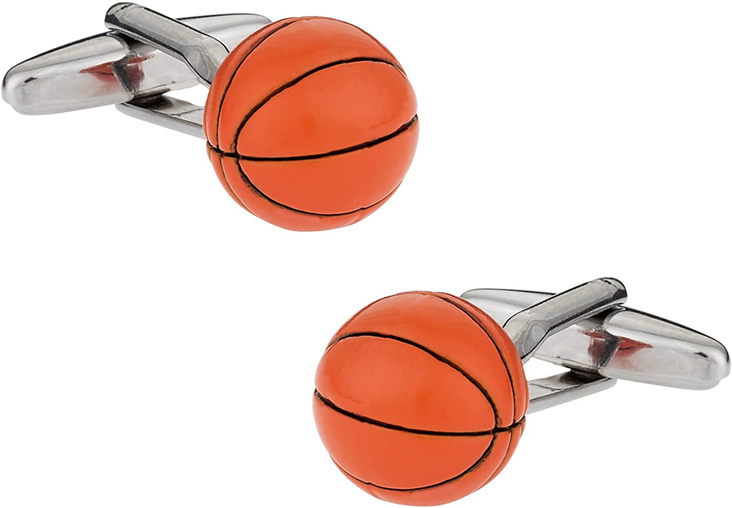 Now free shipping In a popularity Basketball Cufflinks with Presentation Gift Box