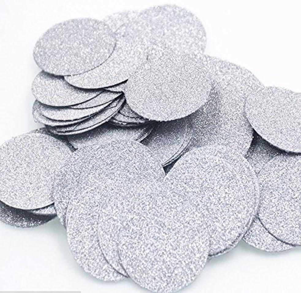 2 Packs Glitter Silver Confetti Circles for Wedding party, Table Confetti, Festival Items & Party Props, Gold Glitter Paper Confetti (200pcs of 1
