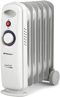 Orbegozo RO-710 C Junior RADIADOR Aceite RO710C 700W 6 Elementos, 700 W, Aluminio, Blanco