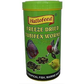 "Hallofeed Freeze Dried Tubifex Worms Fish Food | 100 gms | Free ""Hallofeed"" Ballpen"
