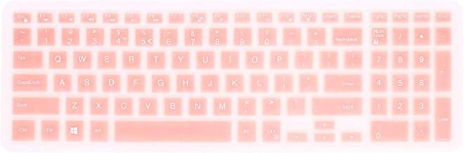 FORITO Keyboard Cover Compatible with Dell New Inspiron 17 3000 Series/Inspiron 15 3000 5000 Series/Insprion 17 7786 /Dell G3 15 17 Series/New Dell G5 15 Series/Dell G7 15 17 Series (Rose Gold)