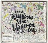K&Company Faux Leather Post Bound Album 12'X12'-Rainbow & Unicorn