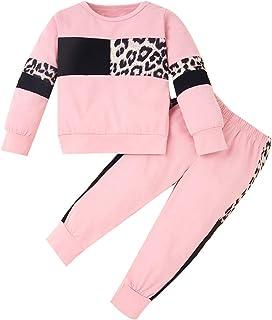 ZOEREA Conjunto de Ropa de Bebé Niña Moda Manga Sudadera Tops + Pantalones Leopardo Recién Nacido Niñas Otoño Primavera Tr...