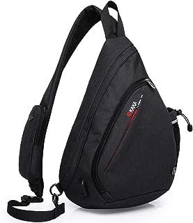 Sling Bag, Crossbody Backpack Canvas Waterproof Daypack Casual Shoulder Bag Traveling Hiking Camping for Men and Women