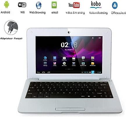 G-Anica Netbook mit Android nbsp 4 4 2 HDMI 10 1-Zoll-Display 25 6 nbsp cm WLAN SD MMC Webcam unterst tzt Textverarbeitung PDF usw Achtung franz sische Tastatur AZERTY silber silber Schätzpreis : 98,17 €
