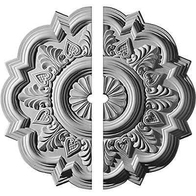 Ekena Millwork 20 1/4-Inch OD x 5-Inch ID x 1 1/2-Inch P Deria Ceiling Medallion