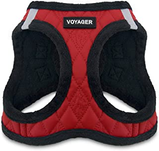 Best Pet Supplies, Inc. Voyager Step-in Plush Dog Harness - Soft Plush, Step in Vest Harness for Small and Medium Dogs - R...