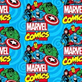 Springs Creative Marvel Fleece-Stoff – Marvel Comic Blue