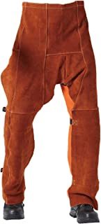 """Welding Chaps Leather Welding Flame/Abrasion Resistant Trousers Cowhide Leather Worker Britches Working Pants (91X58CM (36X22.8""""))"""