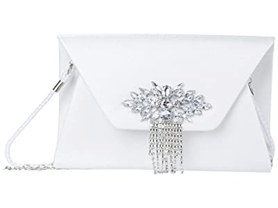 Jessica McClintock Ariana Sateen (Silver) Clutch Handbags