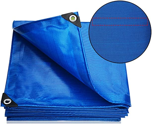 Bache Baches de bache Puissant Imperméable Utilisé dans la famille de Poncho Camping Extérieur de jardin a la couche prougeectrice de haute qualité, épaisseur 0.42mm, 450g   m2, bleu, 8 options de taill