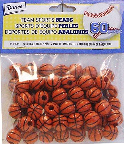 Darice 60Stück Basketball Perlen, 12mm