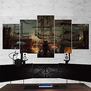 BA-CO Bloodborne Wall Art - Bloodborne 5 Piece Canvas Wall Art, Gaming Canvas, Bloodborne Wall Decor, 09 Framed Ready to Hang - Bloodborne Poster (Large 59