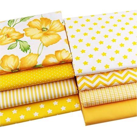 Fat Quarter atomique étoiles 100/% coton quilting patchwork couture tissu