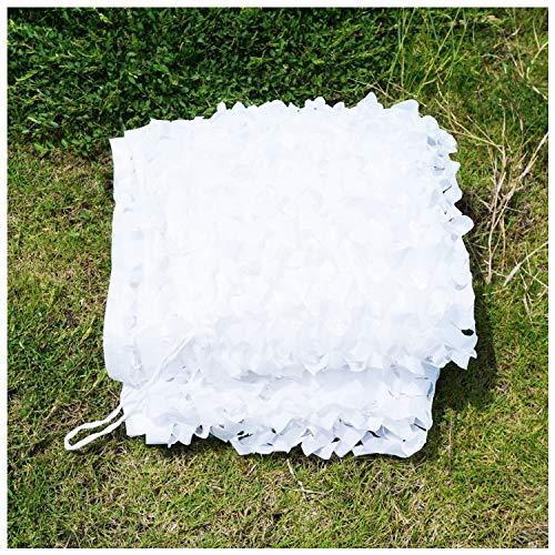 Red de Sombrilla Blanca, 5x3m Camuflaje Red de Camuflaje Protector Solar Malla Refuerzo Toldos para Jardín Decoración Ejército Caza Militar Campo Caza Camping Al Aire Libre Ocultar Coche Cubierto
