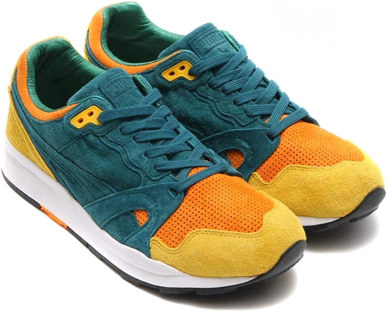 Puma Men's Trainers Multicolour deep Teal Bright Marigold 4 UK