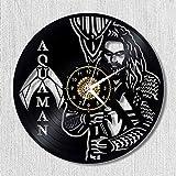 Reloj de pared de vinilo Hombre guapo Reloj de pared de vinilo vintage diseño moderno decoración de estilo antiguo tema musical colgante Relojes de CD reloj de pared decoración del hogar 12 pulgadasc
