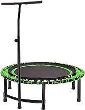 """HMBB 45""""Vouwen indoor trampoline, draagbare oefening Trampoline Rebounder met verstelbare leuning en veiligheidskussen voo..."""