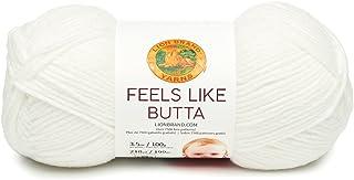 Lion Brand Yarn 215-100 Feels Like Butta Yarn, White