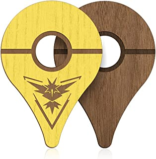 POKEWARES® Shield for Pokemon GO Plus   Instinct Yellow   Real Wood Cover Skin for Nintendo Accessory - PREORDER