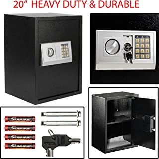 Heavy Duty & Durable Large Digital Electronic Safe Box Keypad Lock Security Home Office Hotel Gun Perfect Addition to Your Home Or Office (13.85 X 11.89 X 19.76)