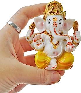 BangBangDa Indian Ganesh Idol Car Dashboard - Hindu Ganesha Statue Elephant God - India GanpatiLord MurtiMandir