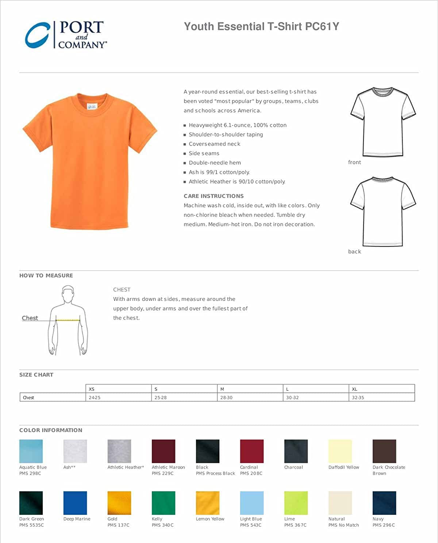 Port & Company - Youth Essential T-Shirt. PC61Y Jet Black