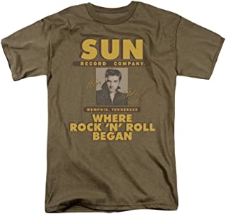 Sun Records Sun Ad with Elvis Adult T-Shirt