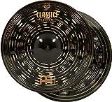 "Meinl 15"" Hihat (Hi Hat) Cymbal Pair - Classics Custom Dark - Made in Germany, 2-YEAR WARRANTY (CC15DAH)"