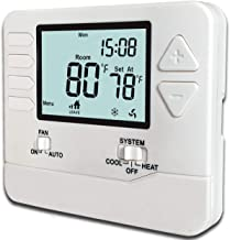 Heagstat H705 5-1-1-Day Single Stage Programmable Thermostat,1 Heat/1 Cool, with 4.5..