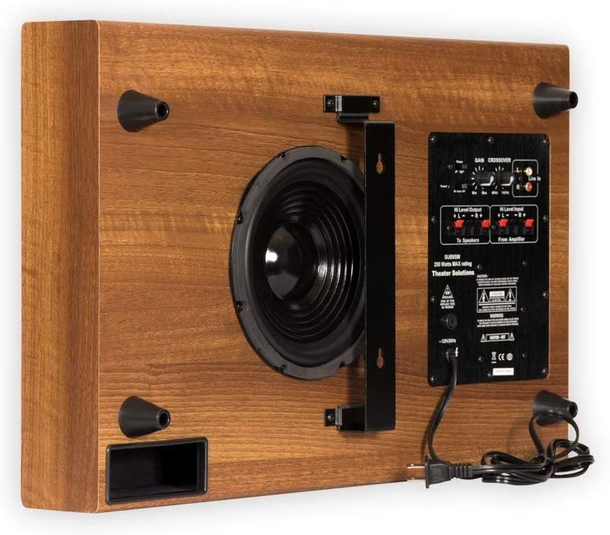 Theater Solutions SUB8SM Slim Renewed Mahogany Subwoofer NEW before selling Large discharge sale ☆