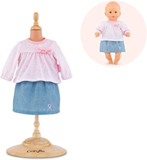 """Corolle - Top & Skirt - Baby Doll Outfit - Clothing Accessory for 12"""" Dolls"""