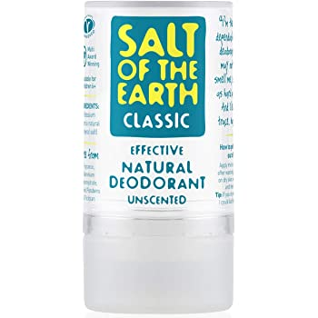 Desodorante natural Crystal Classic por Salt of the Earth, sin perfume, vegano, protección de larga duración, conejo saltando aprobado – 90 g