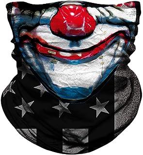 JOEYOUNG Motorcycle Skull Face Sun Mask Riding 3D Neck Gaiter Bandanas Headwear