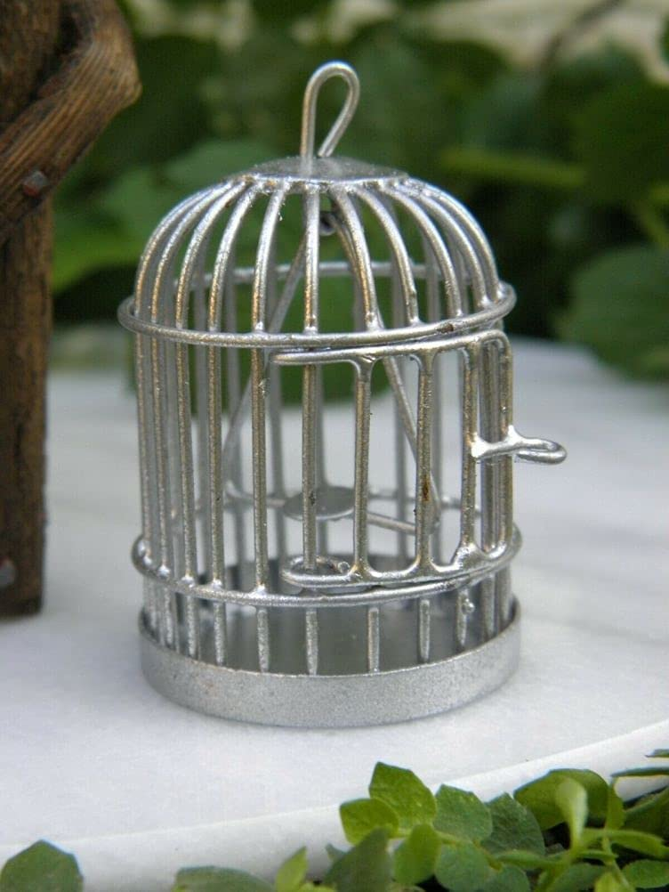 SYTZ Miniature Dollhouse Fairy Garden Recommended Metal Selling and selling Accessories B Silver