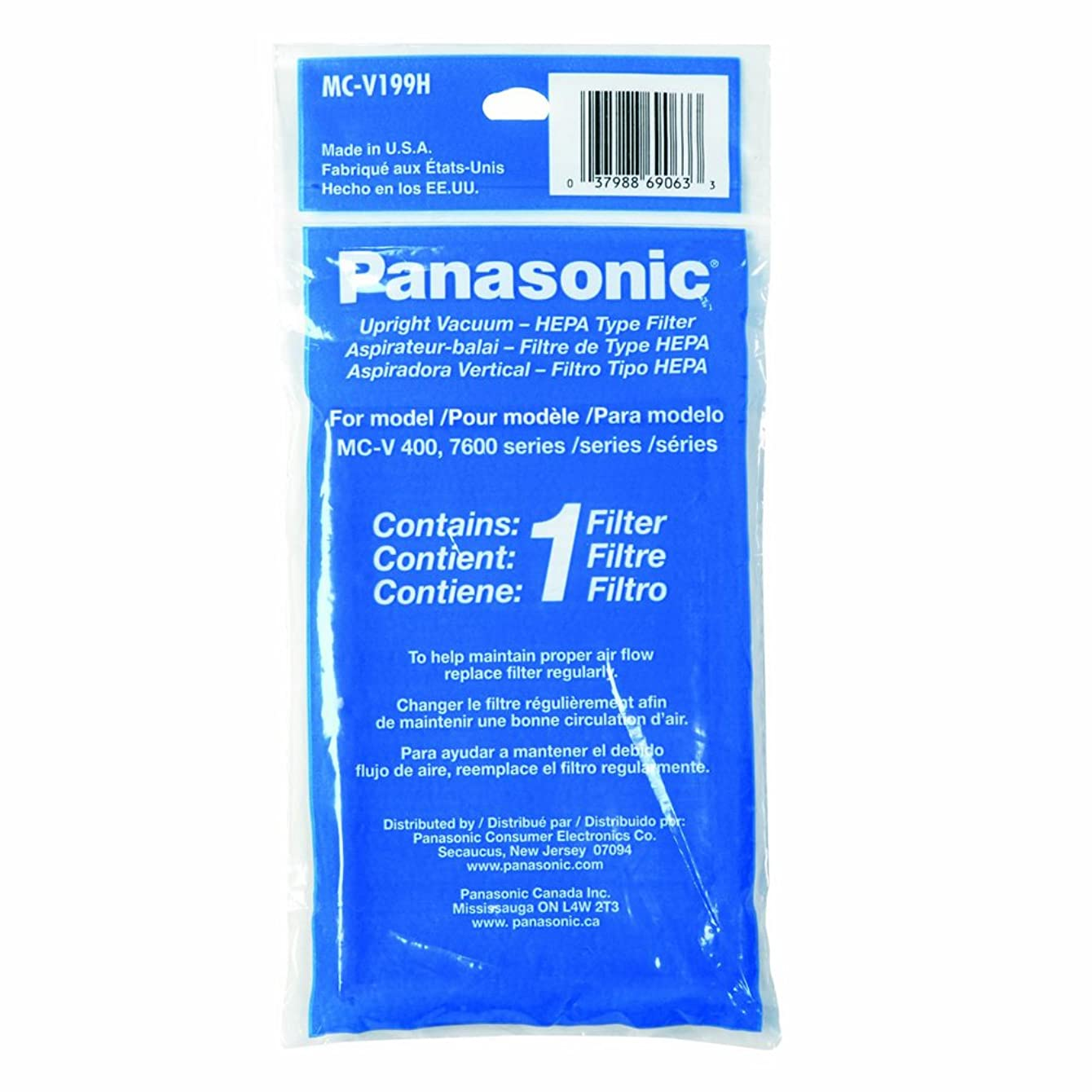 Panasonic MC-V199H HEPA Filter for MC-UL671 and MC-UL675 Upright Vacuum Cleaners