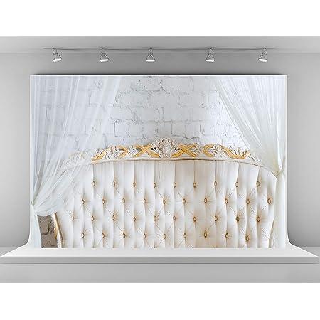 Amazon Com Kate 7x5ft Boudoir Photography Backdrops Headboard For Bedroom Background White Brick Wall Backgrounds Microfiber Newborn Baby Show Photo Studio Backdrop Camera Photo