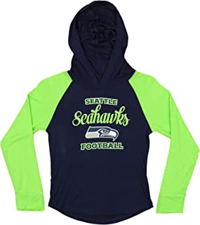 Outerstuff NFL Youth Girls (4-16) Team Color Hooded Long Sleeve Shirt, Team Variation