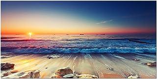 Pyradecor One Panel Sea Waves Large Canvas Prints Modern Seascape Artwork Landscape..