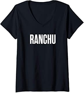 Womens RANCHU Goldfish V-Neck T-Shirt