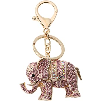 Elephant Metal Keyring Animal Keychain BagCharm Women Girls Accessories Gift UK