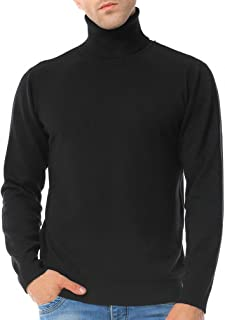 Just No Logo Men's Basic Turtleneck Pullover Solid Sweater