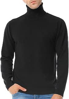 Men's Basic Turtleneck Pullover Solid Sweater