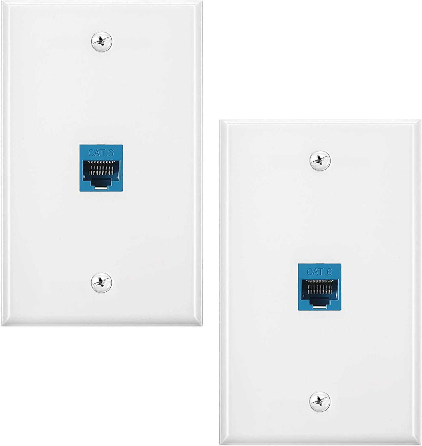 2 At the price of surprise Pack Ethernet Wall Plate RJ45 Inli Seasonal Wrap Introduction Cat6 to Jack Female