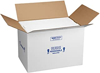 """Polar Tech 266C Thermo Chill Insulated Carton with Foam Shipper, Large, 19"""" Length x.."""